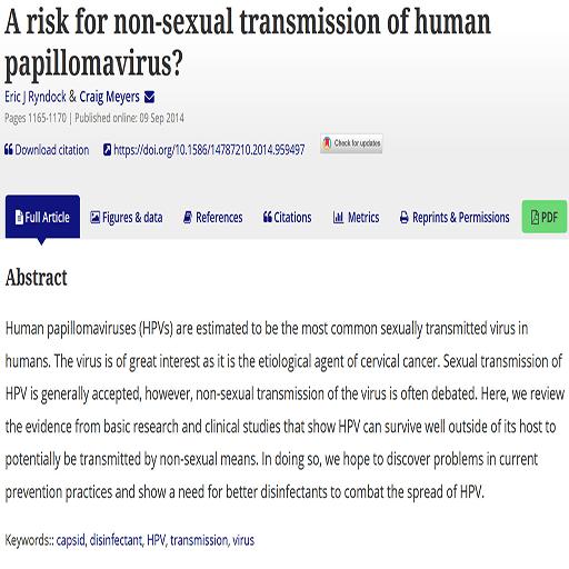 خطر انتقال غیرجنسی ویروس زگیل تناسلی ؟